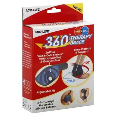 Acu-Life 360 Degree Hot and Cold Universal Therapy Brace,Black and Blue,Each,400613