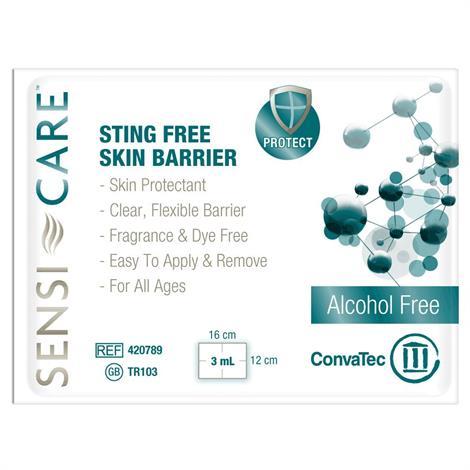 ConvaTec Sensi-Care Sting Free Skin Barrier Wipe,Free,30/Pack,20Pk/case,413501