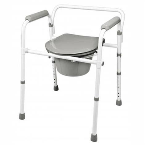 Graham Field 3-in-1 Steel Folding Commode,3-in-1 Steel Folding Commode,4/Case,7108A