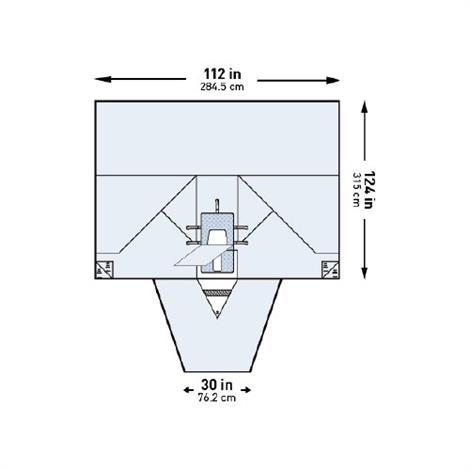 """Mckesson Abdominal Drape,112W x 30W x 124L"""" Sterile,10/Case,183-I80-05174G-S"""