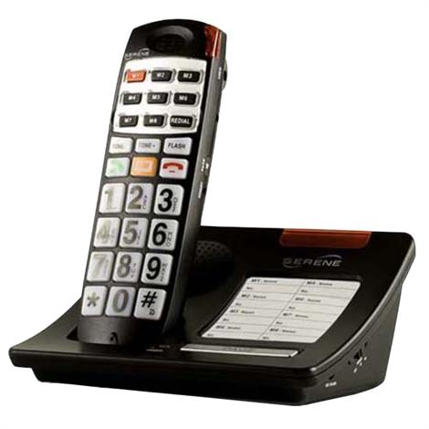 Serene Innovations CL30 Amplified Big Button Loud Volume CID Cordless Phone,Talking Telephone,Each,CL-30