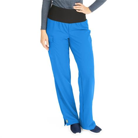 Medline Ocean Ave Womens Stretch Fabric Support Waistband Scrub Pants - Royal Blue,Small,Tall Inseam,Each,5560RYLST