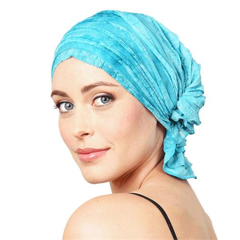 Chemo Beanies Molly Aqua Dye Ruffle,Molly Aqua Dye Ruffle,Each,6201