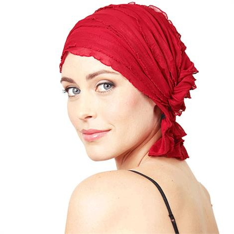 "Chemo Beanies Nancy Red Ruffle,9"" x 6"" x 1"",Each,3509"