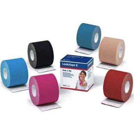 BSN Leukotape K Kinesiology Tape,Beige,1 Inch X 5.5 yard,5/Pack,7297810