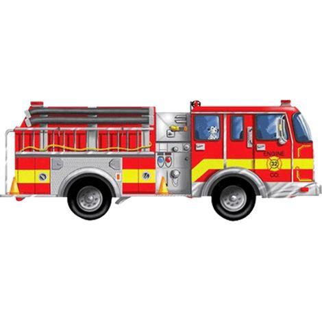 Melissa & Doug Giant Fire Truck Floor Puzzle,48L x 18W (Assembled),Each,436