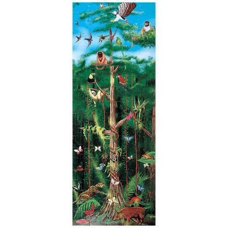 Melissa & Doug Rainforest Floor Puzzle,48L x 18W (Assembled),Each,444