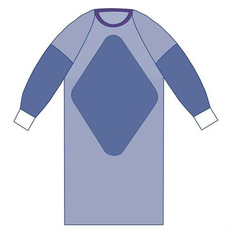 Medline Sterile Fabric-Reinforced Sirus Surgical Gowns with Raglan Sleeve,2X-Large,50