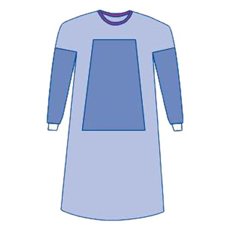 Medline Sterile Fabric-Reinforced Aurora Surgical Gowns with Set-In Sleeve,Large,30/Case,DYNJP2704
