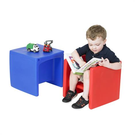 Chair Cube,Red and Blue,2/Pack,CF910-082