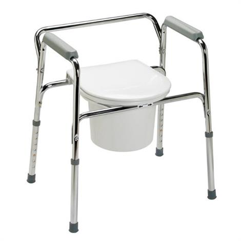 Guardian Easy Care 3-in-1 Aluminum Folding Commode,Aluminum Commode,4/Pack,G30210-4F