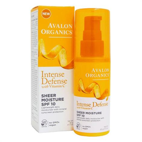 Avalon Organics SPF 10 Intense Defense Sheer Moisture,1.75oz,Each,ECV1779677