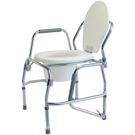 Graham-Field Lumex Silver Collection Steel Drop Arm Three-In-One Commode,Commode,2/Case,6433A-2