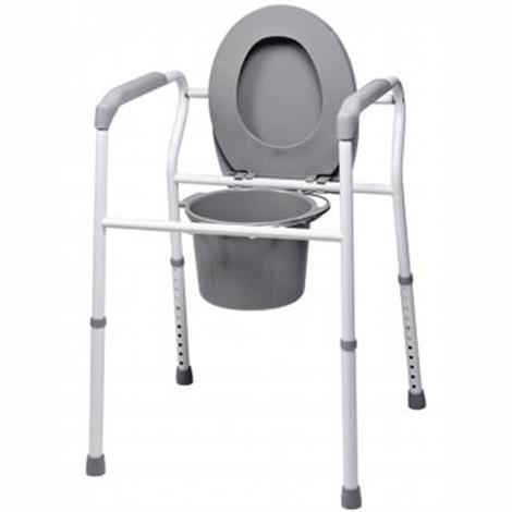 Lumex Platinum Collection 3-in-1 Steel Commode,3-in-1 Steel Commode,4/Case,7103