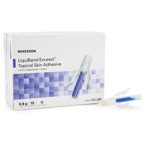 McKesson LIQUIBAND Exceed Topical Skin Adhesive,0.8gm,10/Pack,122-LBX