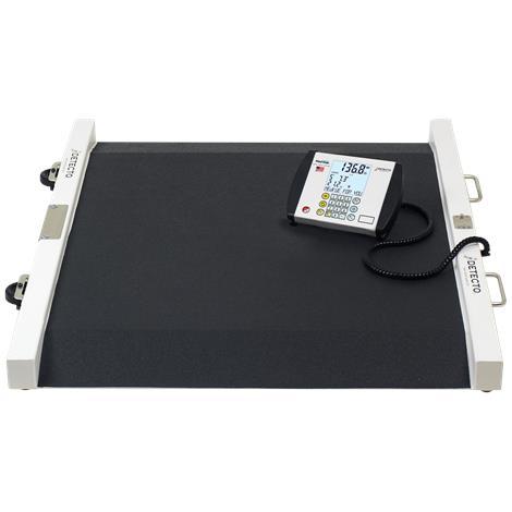 Detecto Portable Bariatric Wheelchair Scale,Capacity: 1,000 lb x 0.2 lb / 450 kg x 0.1 kg,Each,6500
