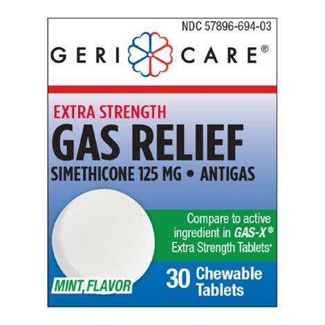 Mckesson Geri-Care Gas Relief,125mg Strength Tablet,12/Case,694-03-GCP