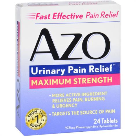 Image of Azo Urinary Pain Relief,24 Tablets,Each,ECW1713239