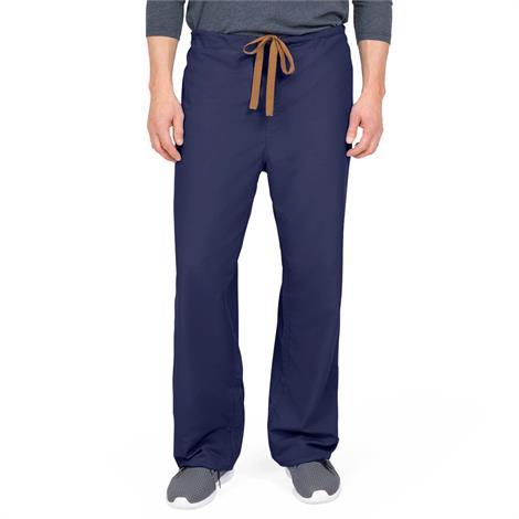 Medline PerforMAX Unisex Reversible Drawstring Scrub Pants - Navy,Large,Medline Color-Coding,Each,800NNTL-CM
