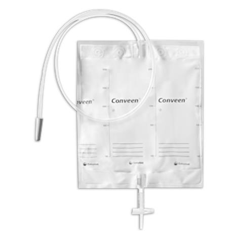 Coloplast Conveen Basic Bedside Drainage Bag,2 liter Capacity,10/Pack,21356