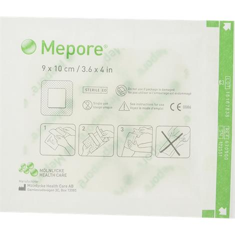 Molnlycke Mepore Self-Adhesive Absorbent Surgical Dressing,9Cm X 15Cm,Each,671000 - from $0.65