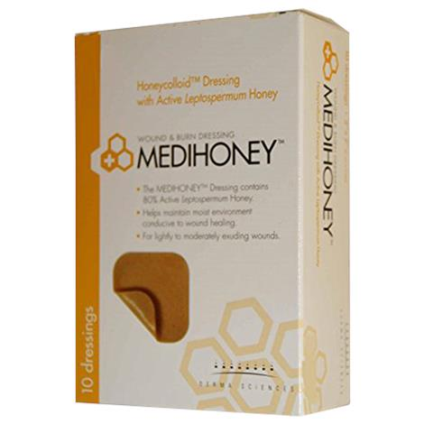 "Derma Sciences Medihoney Honeycolloid Dressing - Non-Adhesive,2"" x 2"",10/Pack,10Pk/Case,31222"