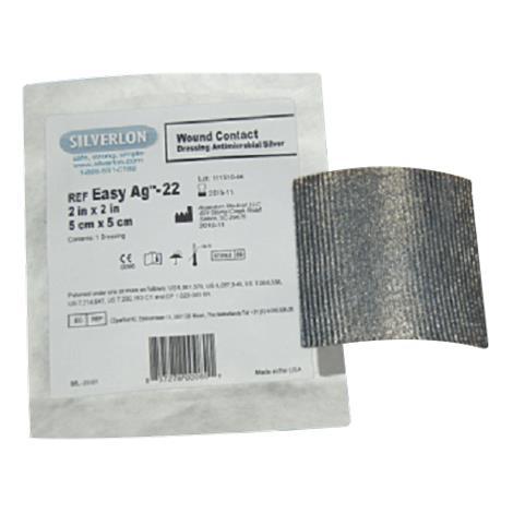 "Argentum Silverlon Non Adherent Wound Pad Dressing,4"" x 4-1/2"",5/Pack,WP44"