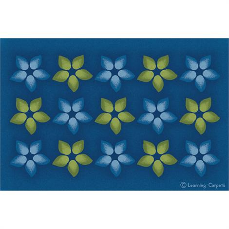 "Childrens Factory Flower Seating Rug,Rectangle,Small,108"" X 72"",Each,CPR3055"