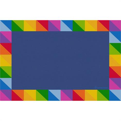 Image of Rainbow Rug,Prism Border - Rectangle Small,Each,CPR3035