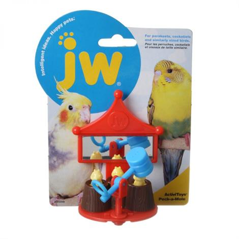 "JW Activitoys Peck-A-Mole Plastic Bird Toy,3"" Wide x 4"" High,Each,31099"