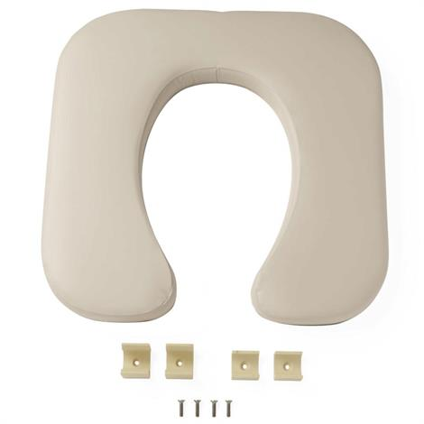 Commode Contoured Seat For Guardian Padded Transfer Bench,White,Each,G222-0864