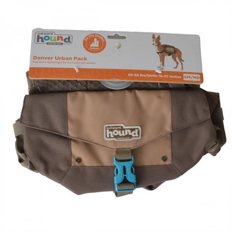 """Outward Hound Denver Urban Pack for Dogs - Brown,Small/Medium - 25-55 lbs - (16""""-27"""" Girth),Each,22079"""