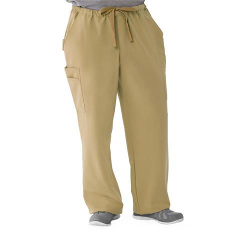 Medline Illinois Ave Mens Athletic Cargo Scrub Pants with 7 Pockets - Khaki,X-Large,Tall Inseam,Each,5800KHKXLT