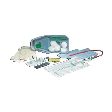 Bard Slim-Line Paperboard Intermittent Catheter Tray,With 15FR Red Rubber Catheter,Contains Latex,20/Case,771215