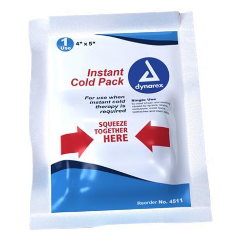 "Dynarex Instant Cold Pack,4"" x 5"",24/Pack,4511"