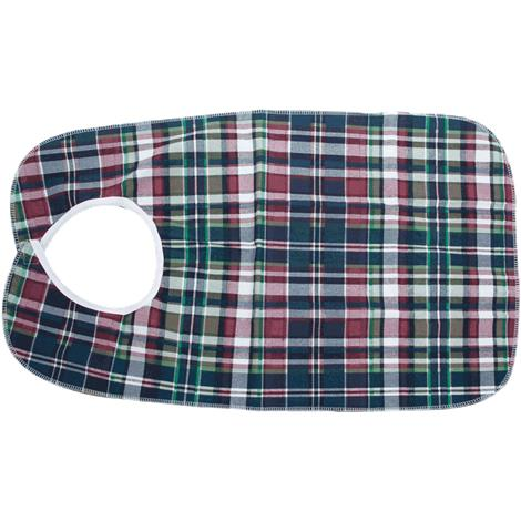 "Essential Medical Deluxe Plaid Bib With Vinyl Back,30""L x 18""W,Each,C3045"