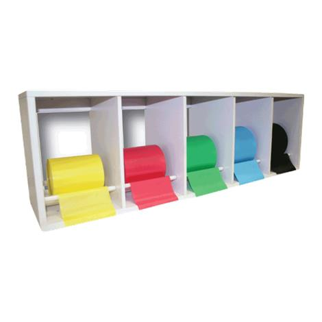 CanDo Exercise Band Plastic Rack With Perf 100 Band Rolls,Latex Free Exercise Band Set,Each,#10-5481