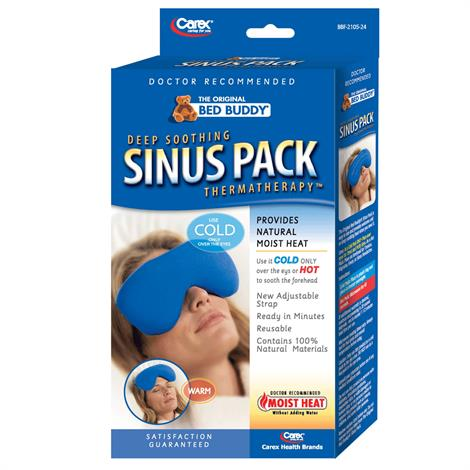 Carex Bed Buddy Hot And Cold Sinus Pack,Blue,Each,BBF2108