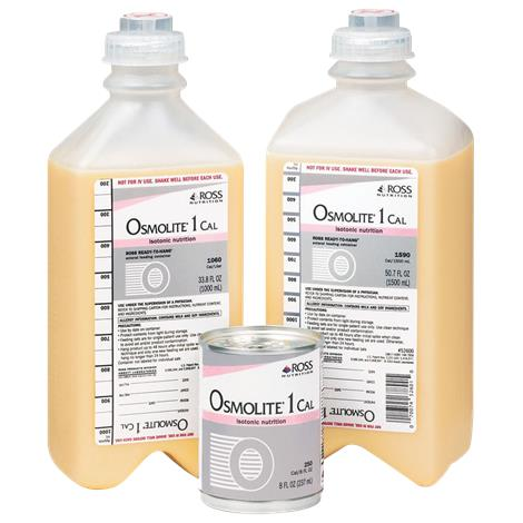 Abbott Osmolite 1 Cal Isotonical Drink,1000ml (33.8fl oz),Ready-To-Hang,Institutional Bottle,8/Case,62691