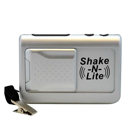 "Reizen Shake N Lite Vibrating Travel Alarm Clock,Dimensions: 4-1/4""W x 1-1/2""D x 2-3/4""H,Each,HC-SHK/LITE"