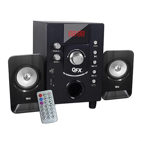 QFX BT-202BK 2.1 Channel NFC Bluetooth Speaker Black,Bluetooth Speaker,Each,BT-202BK