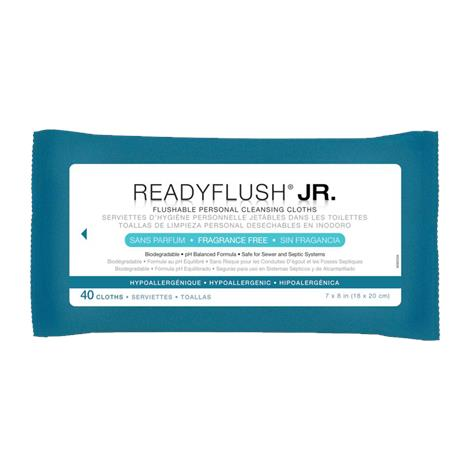 """Medline ReadyFlush Biodegradable Flushable Wipes Refill Pack,7"""" x 9"""", , Unscented, Without Dimethicone,40/Pack, 24PK/Case,MSC263820 MIMSC263820"""