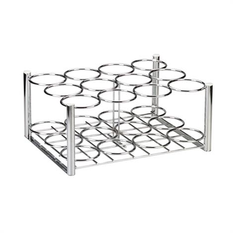 Drive Chrome Plated Steel Oxygen Cylinder Rack,For use with (12) D or E Style Cylinders,Each,18112