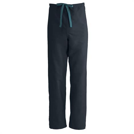 Medline ComfortEase Unisex Reversible Drawstring Pants - Black,2X-Large,Each,900DKWXXL-CM