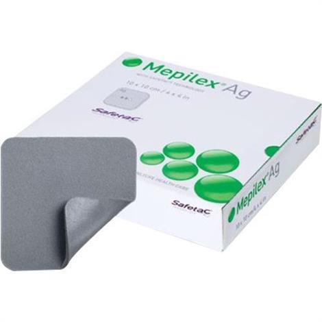 Molnlycke Mepilex Ag Foam Dressing - Value Pack,4 x 4,70/Case,287100