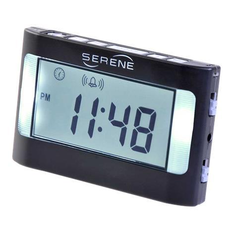 """Serene Innovations Model VA3 Vibrating Travel Alarm Clock,Dimensions: 4.6""""W x 2.8""""H x 1.1""""D,Each,VA 2001 HC-VA3"""