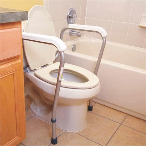 Essential Medical Height Adjustable Toilet Safety Rail,Adjustable Toilet Safety Rail,Each,B5040