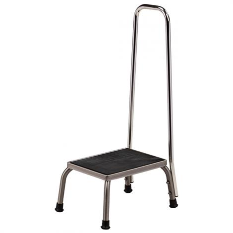 Clinton Stainless Steel Step Stool with Hand Rail,Each,SS-150