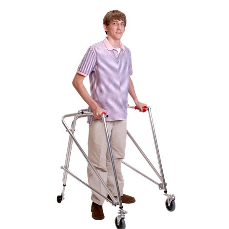 Kaye Posture Control Four Wheel Large Walker With Front Swivel And Installed Silent Rear Wheel