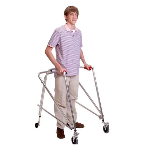 Kaye PostureRest Four Wheel Large Walker With Seat,Front Swivel And Installed Silent Rear Wheel